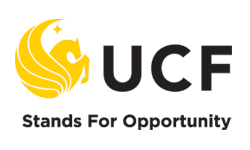 UCF Logo and tagline - Stands for Opportunit