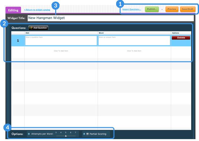 Widget Creator Page